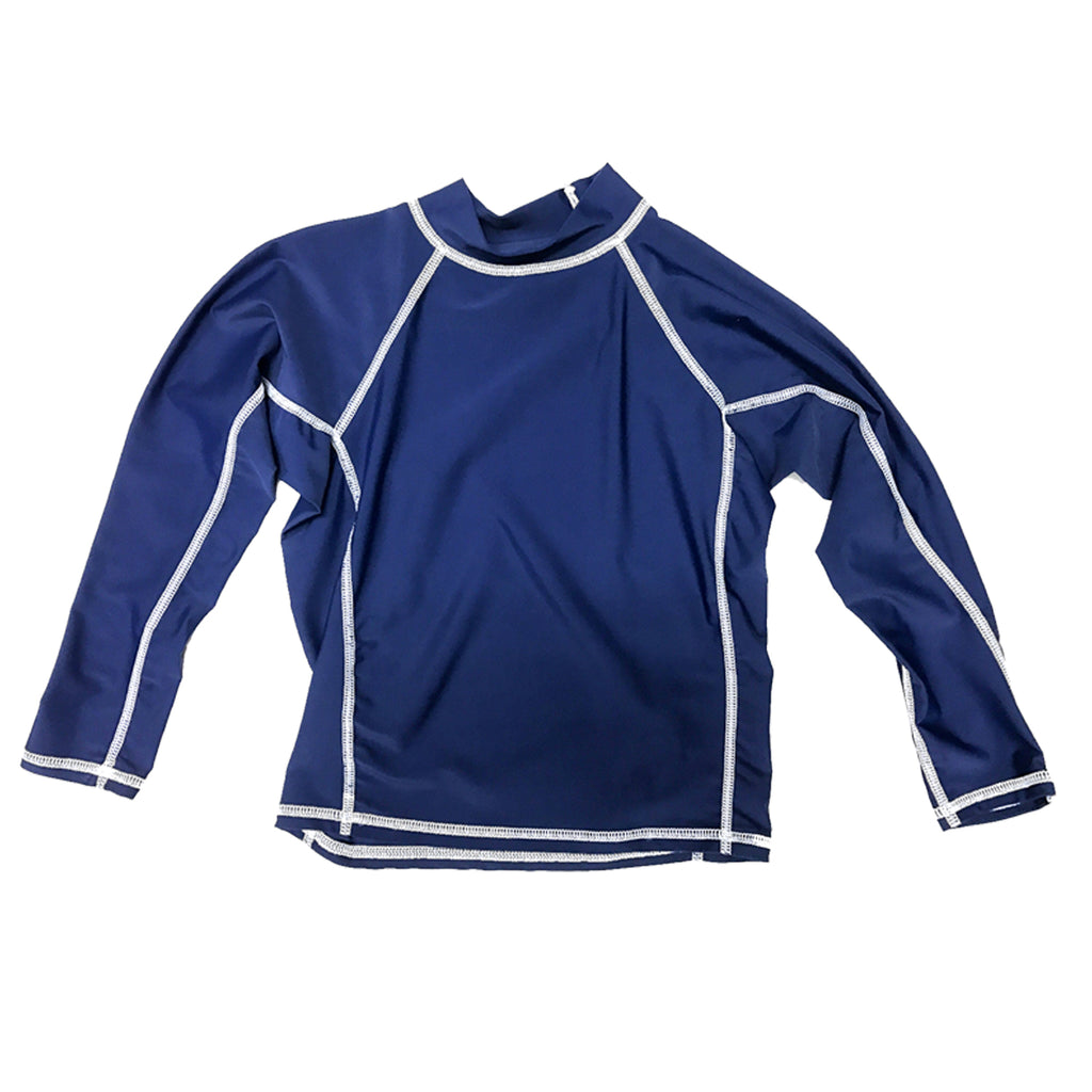 Junior Guard Long Sleeve Rashguard - Navy