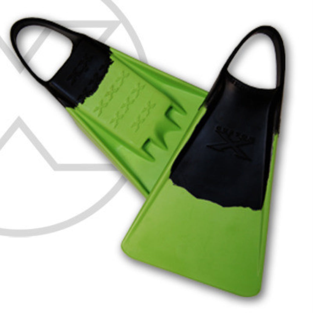 Custom X Swimfin - Black/Green - L
