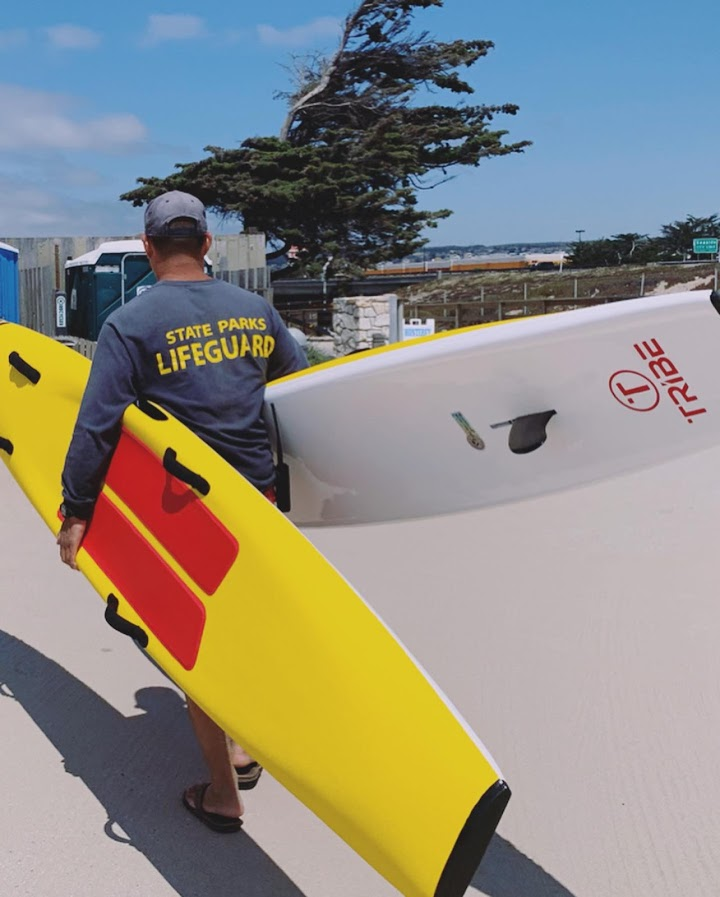 "Tribe 10'6"" Soft Top  Lifeguard Race Board - Yellow"