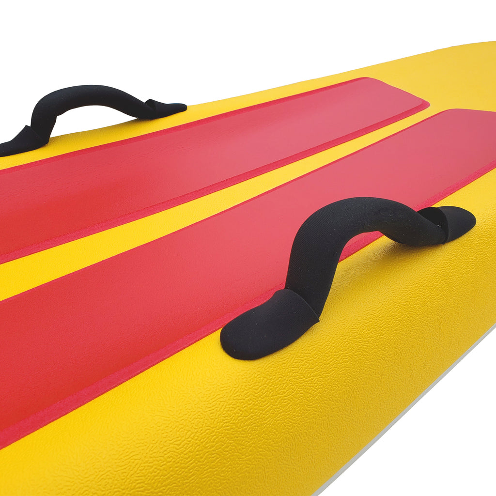 "Tribe 8'10"" Soft Top Lifeguard Race Board - Yellow"