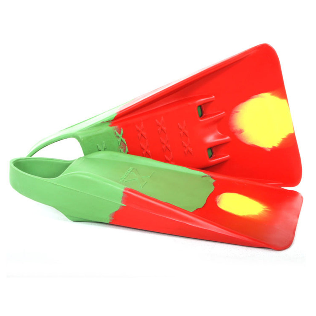 Custom X Swimfin - Green/Red -  XS