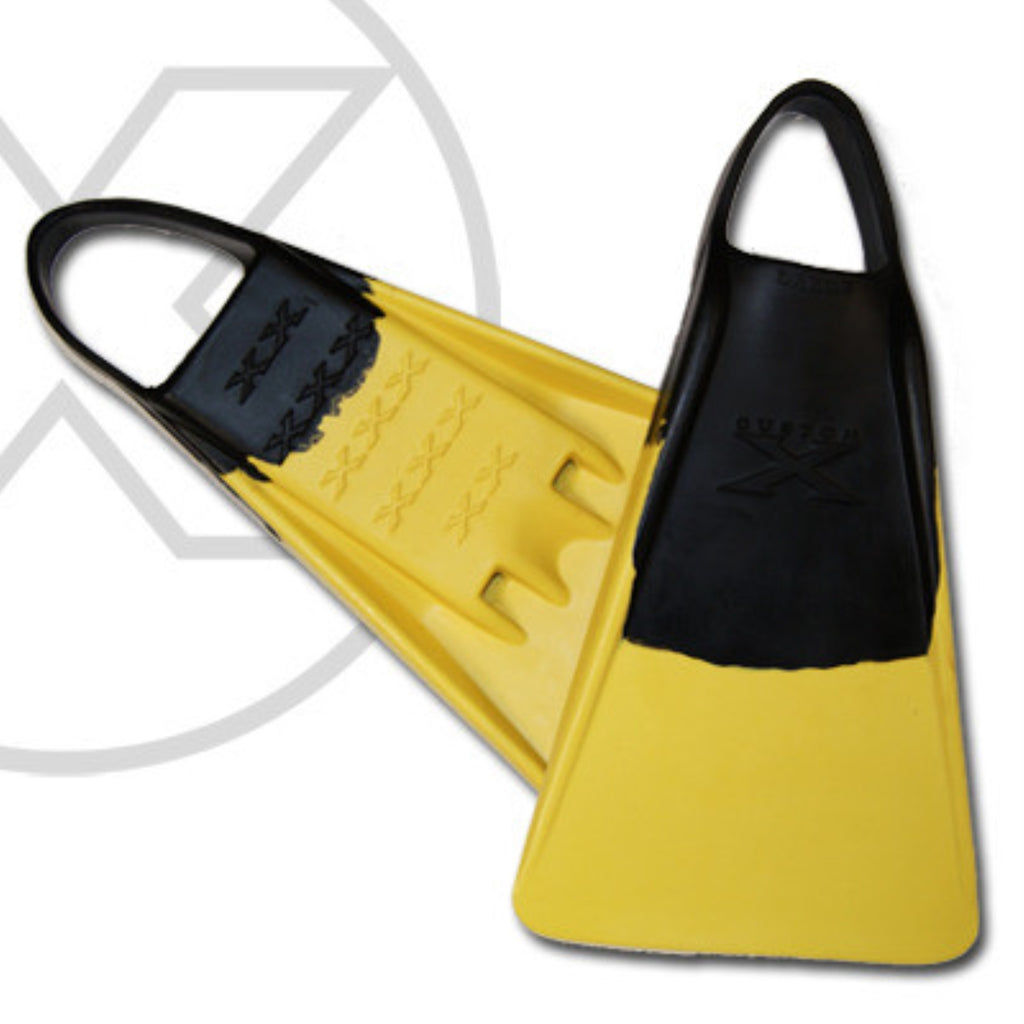 Custom X Swimfin - Black/Yellow - XS