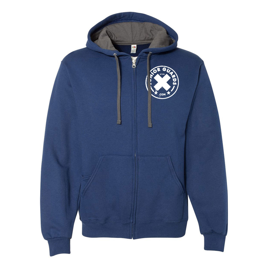 Jr. Guards Heavy Full-Zip Hooded Pullover Sweatshirt Cotton/Polyester