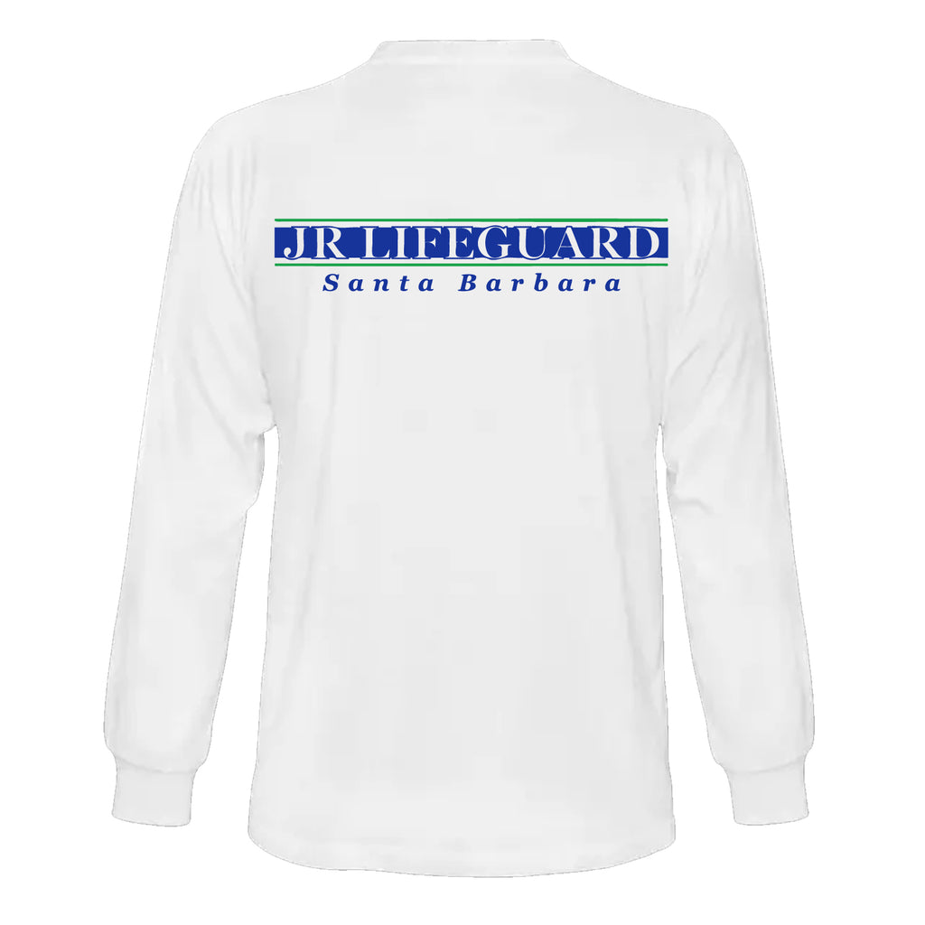 Santa Barbara Park and Recreation Long Sleeve T-Shirt Cotton/Polyester - White