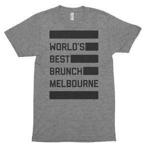 Melbourne Brunch Dark - Unisex soft t-shirt