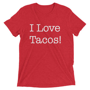 I Love Tacos - White - Short sleeve t-shirt