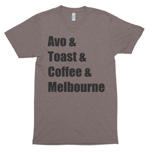 Avo & Toast & Coffee & Melbourne - Unisex soft t-shirt