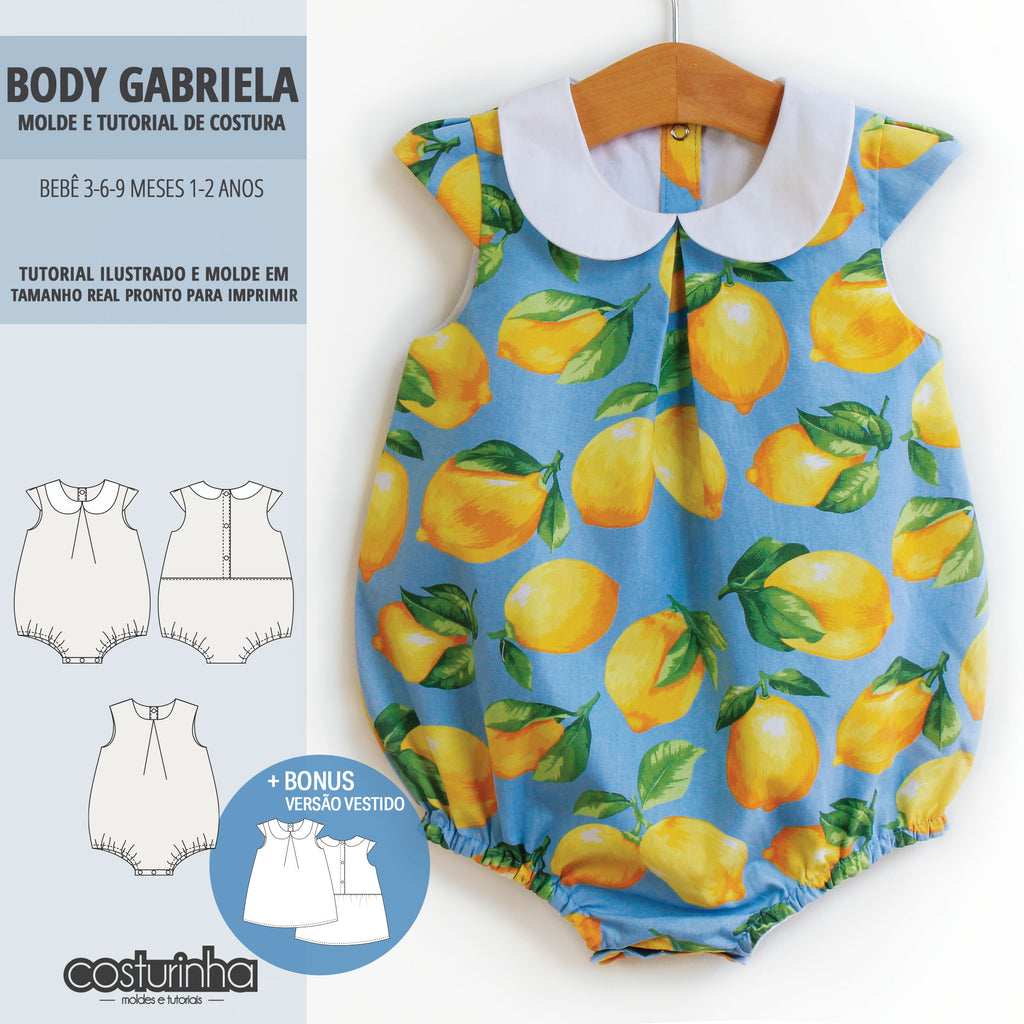 Body GABRIELA - moldes e tutorial