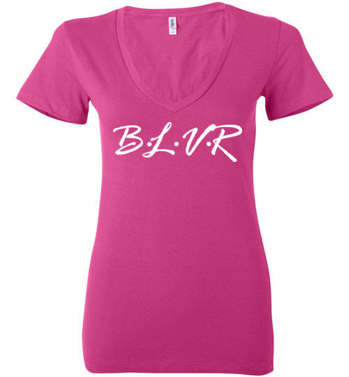 BLVR Ladies Deep V-Neck
