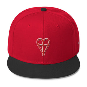 Cross Heart Wool Snapback