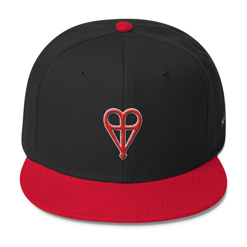 Cross Heart Wool Snapback. SoulAlter Online Clothing Store. Free Shipping Included.