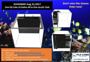 Fiji Cube Giveaway - One Fiji Cube 10 Gallon All-in-One Acrylic Tank