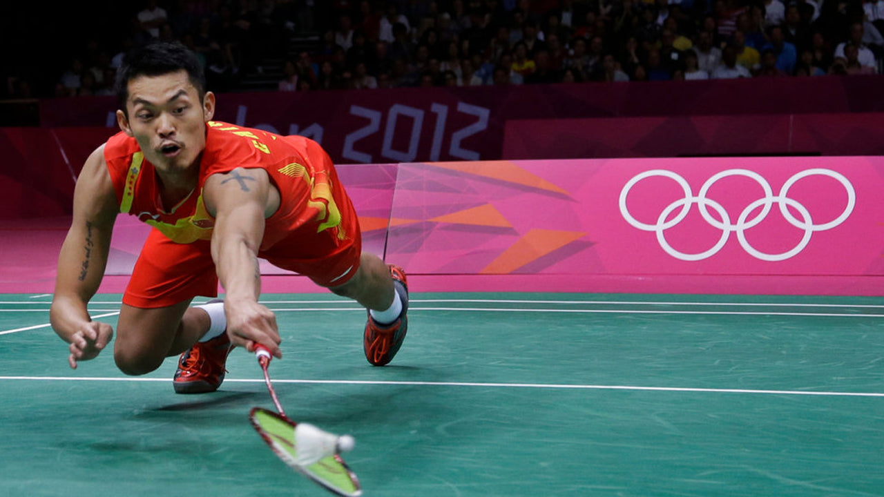 Lin Dan Olympics London Badminton Dive Footwork Gold Medal Jump Smash Momota Chong Wei Kento
