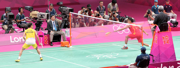 Lin Dan fights off Lee Chong Wei at the London Olympics