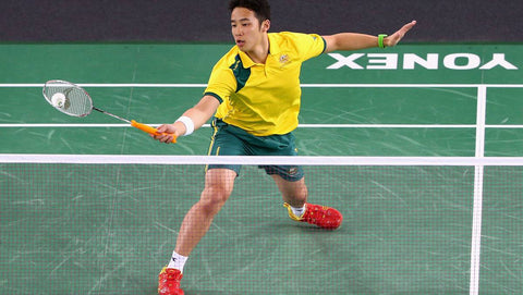 badminton weights gym workout fit athlete hard work Fan TV Television Camera Volant Wear Badminton Activewear Cool Fashion Kento Momota Japan Badminton Player Best World Champion Performance Active Wear Lin Dan Lee Chong Wei Srikanth Kidambi Viktor Axelsen Clothing BWF Singles Champion