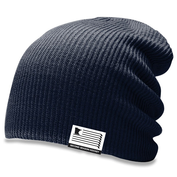 MN Slouch Knit Hat - Navy