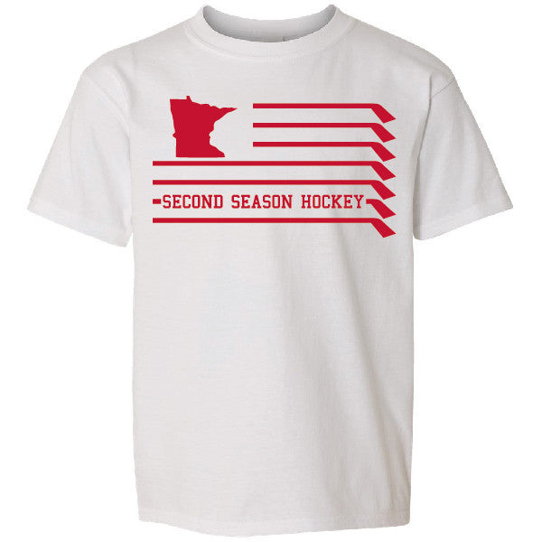 MN Flag Youth T-shirt - White