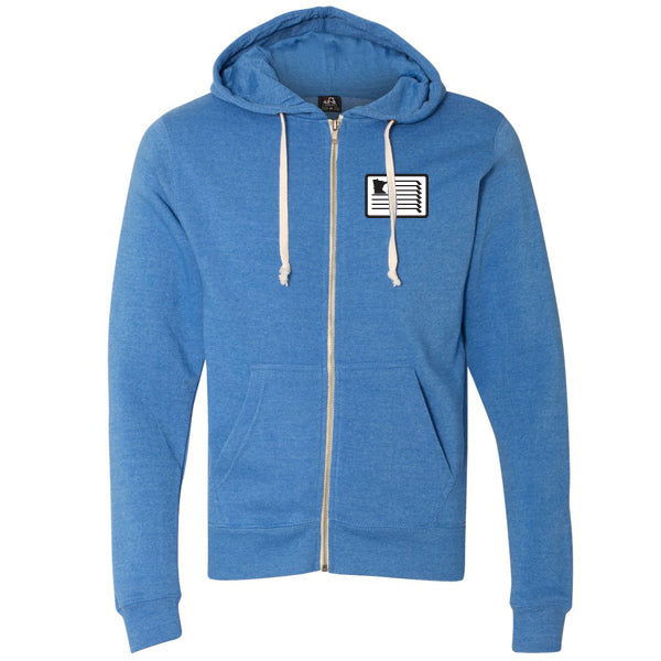 Royal Triblend Hooded Full-Zip Sweatshirt