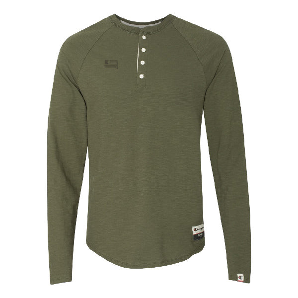 Green Luck Champion Authentic Originals Henley