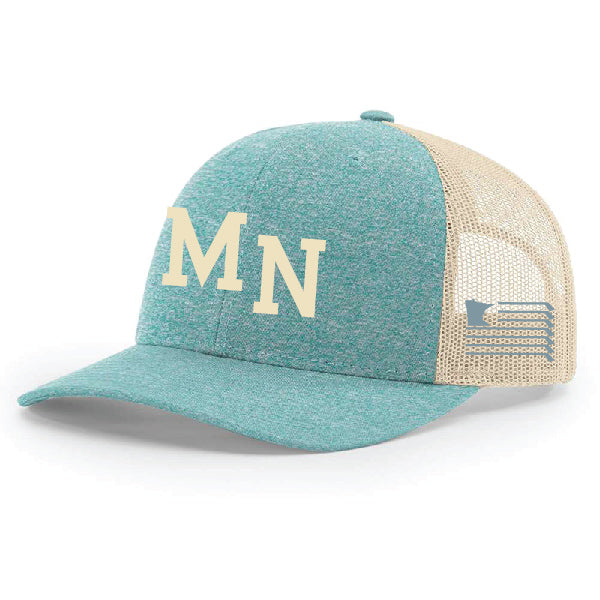 MN Hat - Green Teal/Birch