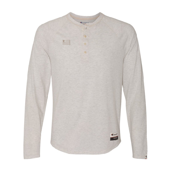Oatmeal Heather Champion Authentic Originals Henley