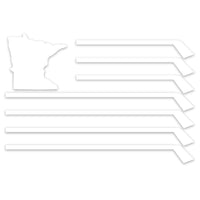 MN Flag Die-Cut Window Sticker
