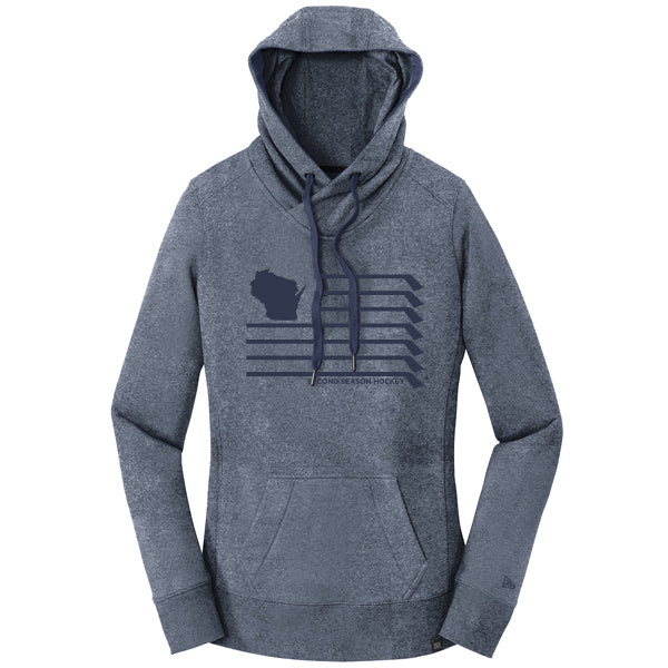 WI Ladies Twist Hoodie - Navy Twist