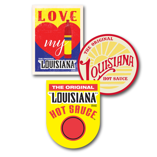 Louisiana Hot Sauce Decals - Set of 3