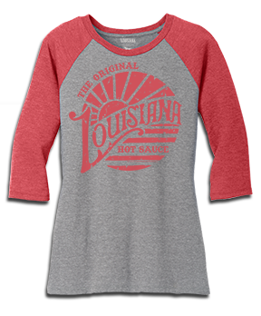 "Women's Original ""Louisiana"" Raglan Tee"