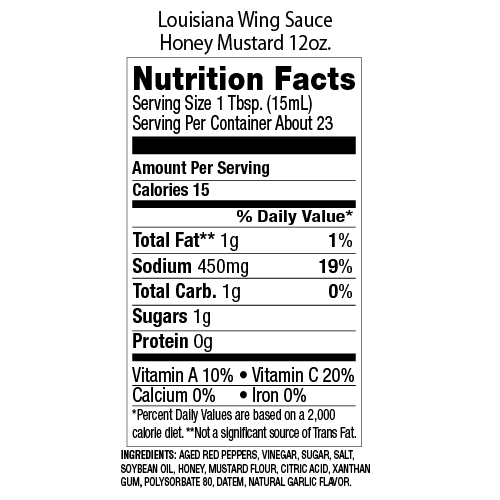 Louisiana Brand Wing Sauce Honey Mustard 12 oz.