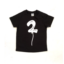 Load image into Gallery viewer, Birthday Balloon Short Sleeve Tshirt (Choose Number)