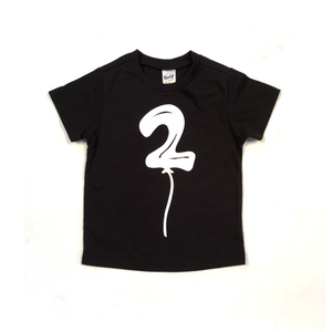 Birthday Balloon Short Sleeve Tshirt (Choose Number)