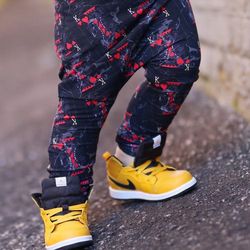 King of Hearts Harem Pants - LJ Kids Collab - RTS