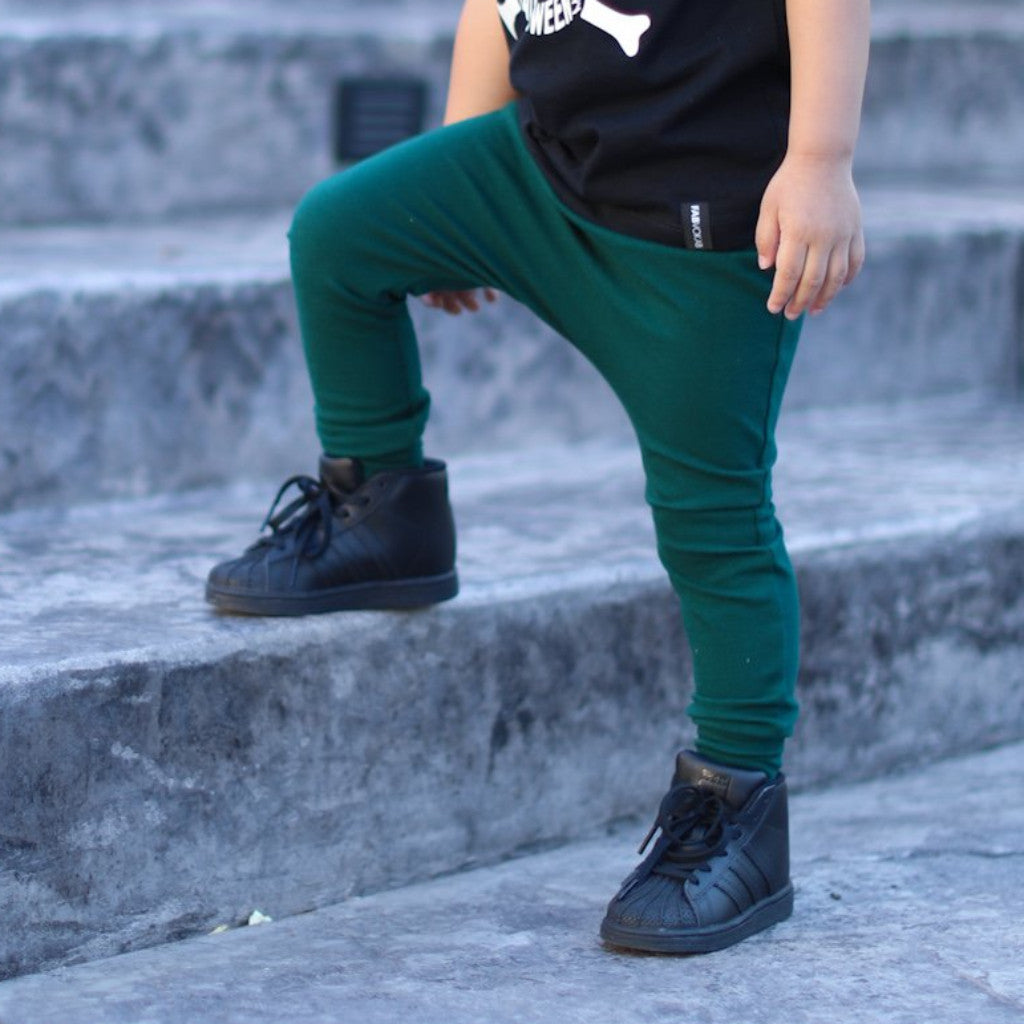 Forest Green Harem Pants or Shorts
