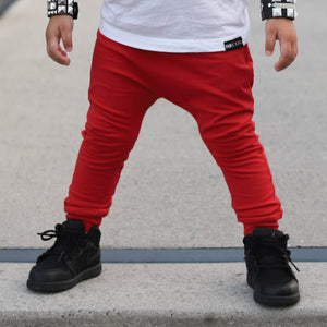 Solid Red Harem Pants