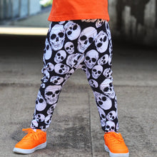Load image into Gallery viewer, Black Skull Harem SHORTS or PANTS- Made to Order