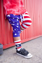 Load image into Gallery viewer, Stars and Stripes Harem Shorts OR Jogger Shorts