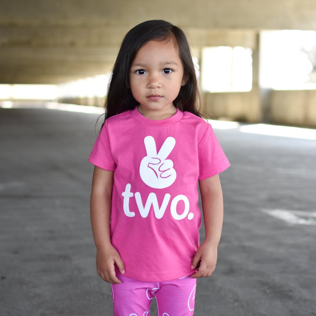 Two. 2nd Birthday Tshirt - choose your color