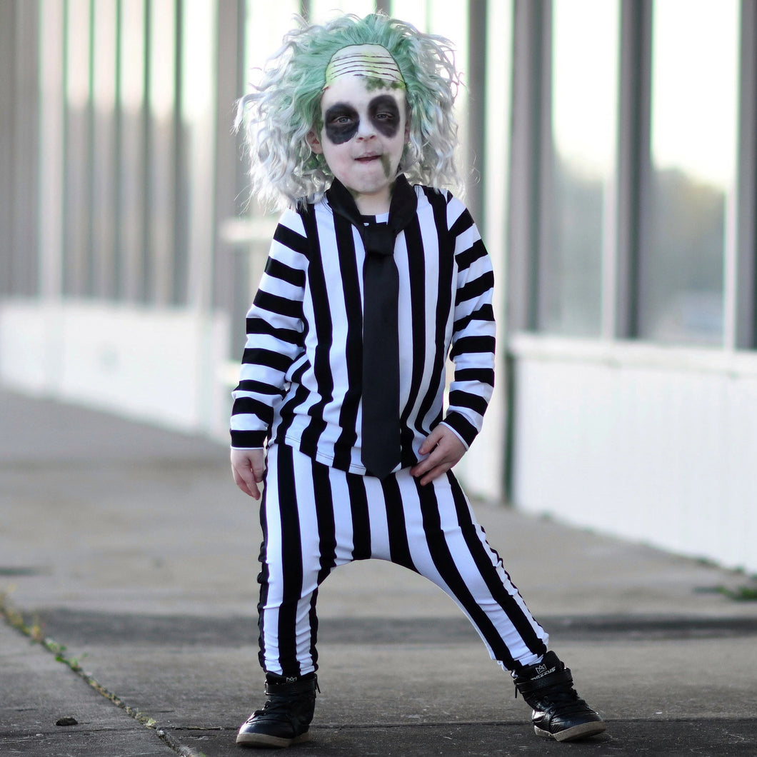 Beetlejuice Costume Vertical Stripe T Shirt And Pants Me Reekie