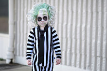 Load image into Gallery viewer, Beetlejuice Costume Vertical Stripe T-Shirt and Pants