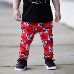 Frenchie Puppy Love Harem Pants - RTS
