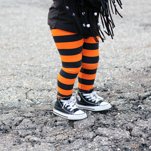 Orange & Black Leggings