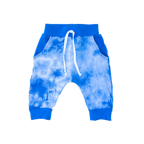 Blue/White Tie Dye Pocket Shorts