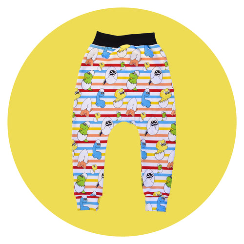 Dino Egg Harem Pants- Made-to-Order