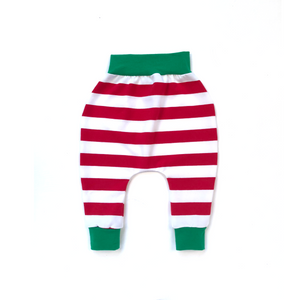Red/White Stripe Elf Harem Pants