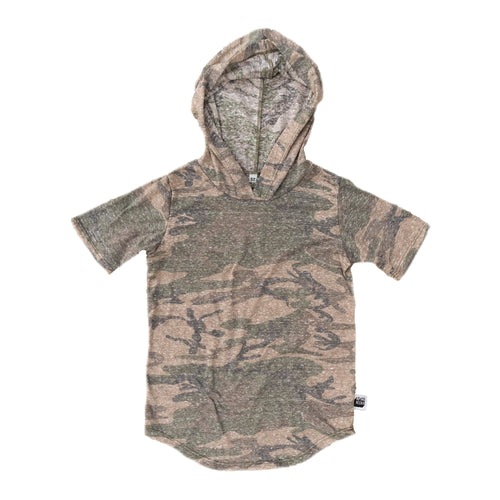 Faded Green Camo Tri Blend Hoodie Tee (Lightweight)