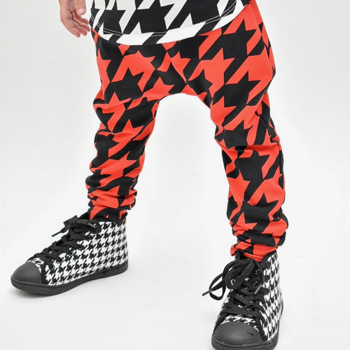 Reds Houndstooth Harem Pants- RTS