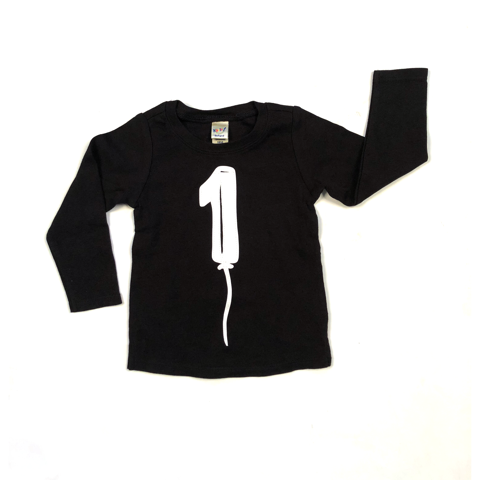 Birthday Balloon Long Sleeve Tshirt (Choose Number)