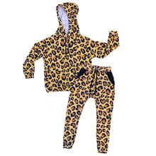 Load image into Gallery viewer, Leopard Drop Shoulder Hoodie
