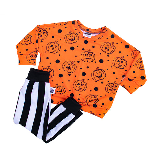 Pumpkin Drop Shoulder Crewneck